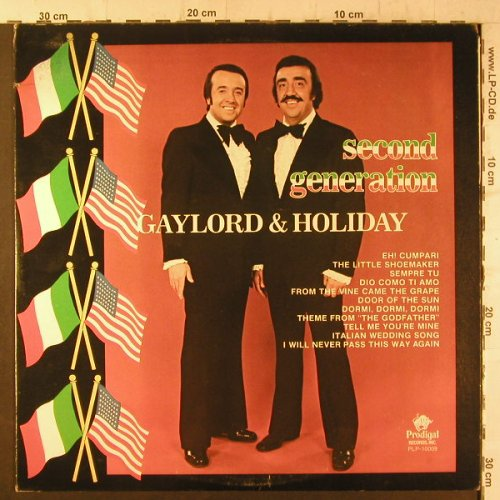 Gaylord & Holiday: Second Generation, m-/vg+, Prodigal(PLP-10009), US, 1975 - LP - F6674 - 6,00 Euro