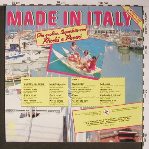 Ricchi & Poveri: Made in Italy, Baby Records(TG 1469), D, 1983 - LP - X6064 - 5,00 Euro