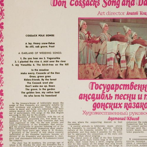 Don Cossacks Song and Dance Ens.: Same, Anatoli Kvasov, Melodia(C20-05083-84), UDSSR,  - LP - B8262 - 6,00 Euro