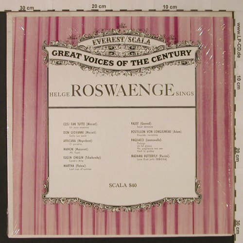 Roswaenge,Helge: Sings, Everest/Scala(SCALA 840), US,  - LP - K8134 - 7,50 Euro