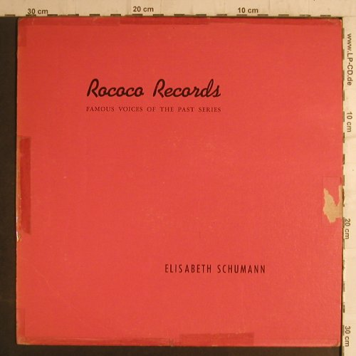 Schumann,Elisabeth: Famous Voice of the Past Series,toc, Rococo Records(R6), CDN,vg+/vg,  - LP - K9338 - 3,00 Euro