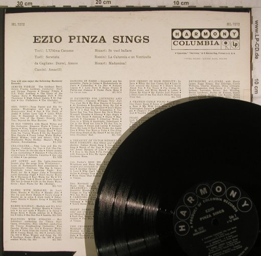 Pinza,Ezio: sings, vg+/vg+, toc,playable, Harmony Columbia(HL 7272), US,  - LP - K9521 - 4,00 Euro
