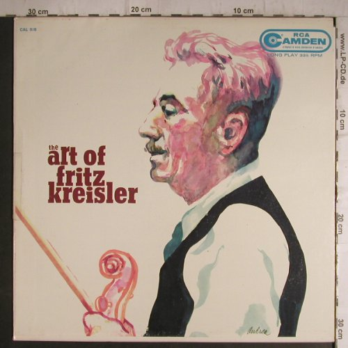 Kreisler,Fritz: The Art of, w.Carl Lamson,piano, RCA Camden(CAL-518), US,  - LP - K9570 - 5,00 Euro