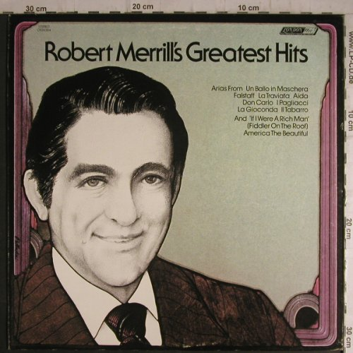 Merril,Robert: Greatest Hits, London(OS-26304), UK, 73 - LP - K9604 - 7,50 Euro