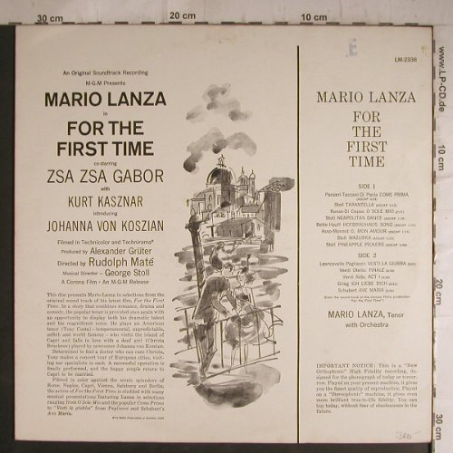 Lanza,Mario: For The First Time - Soundtrack, RCA(LM-2338), US, 59 - LP - K9625 - 12,50 Euro