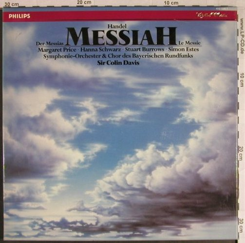 Händel,Georg Friedrich: Der Messias, Box, Philips(412 538-1), NL, 1984 - 3LP - L1012 - 12,50 Euro