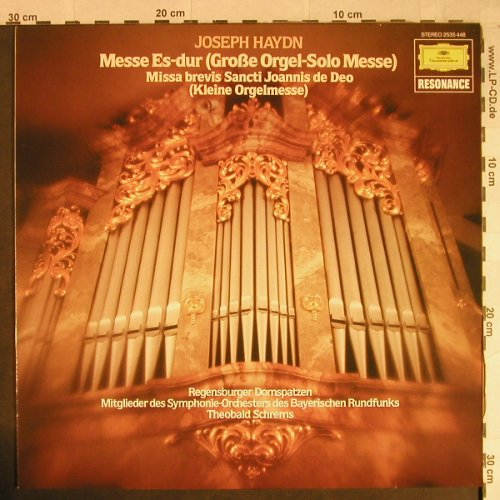 Haydn,Joseph: Messe Es-dur,Große Orgel-Solo Messe, D.Gr. Resonance(2535 448), D, Ri, 1982 - LP - L1018 - 4,00 Euro