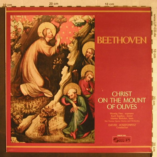 Beethoven,Ludwig van: Christ on the Mount of Olives, Concert Hall(SMSC 2550), UK,  - LP - L1107 - 9,00 Euro