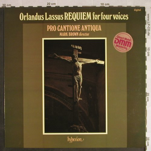 Di Lasso,Orlando: Requiem for four voices, Hyperion(A 66066), UK, 1981 - LP - L1253 - 7,50 Euro
