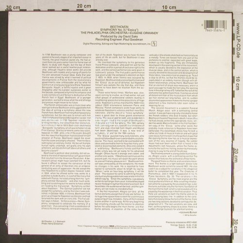 Beethoven,Ludwig van: Sinfonie Nr.3 -Eroica, FS-New, RCA Gold Seal(AGL1-5876), US, co, 1981 - LP - L1708 - 15,00 Euro