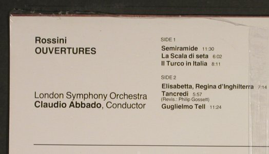 Rossini,Gioacchino: Ouvertures, rec.1978, FS-New, RCA Gold Seal(GL 70316), I, 1986 - LP - L1842 - 12,50 Euro