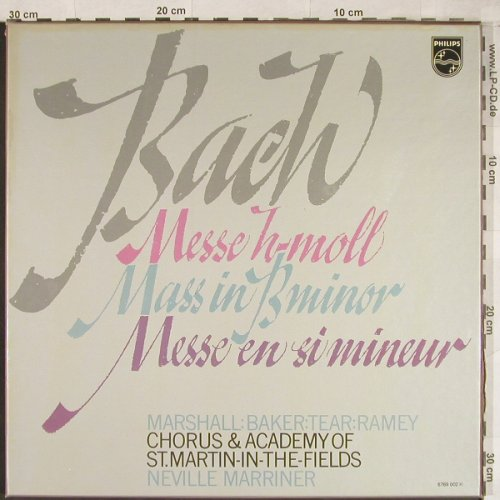 Bach,Johann Sebastian: Messe In H-Moll,BWV 232 ,Box, Philips(6769 002), NL, 1978 - 3LP - L2006 - 12,50 Euro
