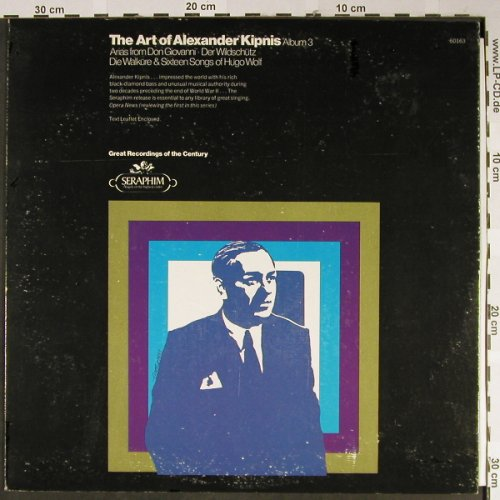 Kipnis,Alexander: The Art Of Album 3, vg+/vg+, Seraphim(60163), US,  - LP - L2336 - 4,00 Euro
