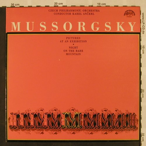 Mussorgsky,Modest: Pictures At An Exhibition, Supraphon(10 0570-1), CZ, Ri, 1969 - LP - L2464 - 6,00 Euro