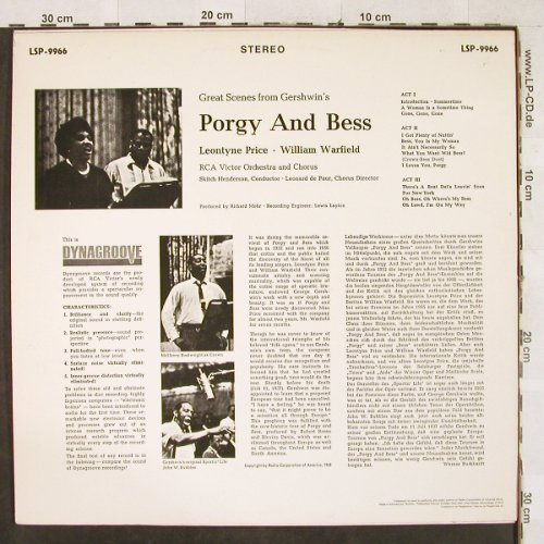 Gershwin,George: Porgy and Bess- Great Scenes from, RCA(LSP-9966), D,  - LP - L2731 - 6,00 Euro