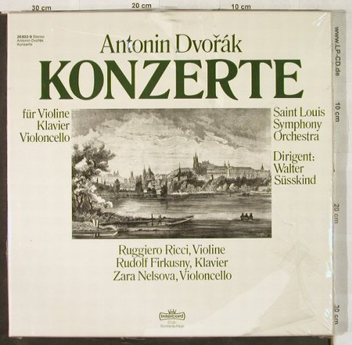Dvorak,Antonin: Konzerte, Box, DSC-Ed., FS-New, Intercord(26 802-9), D,  - 3LP - L2994 - 14,00 Euro