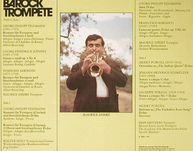 V.A.Könige der Barock Trompete: Don Smithers,M.Andre,Walter Holy, Philips(6747 10), D,  - 2LP - L3563 - 6,00 Euro