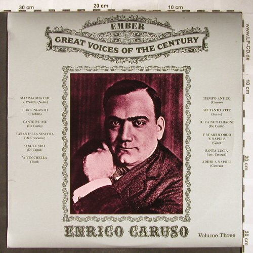 Caruso,Enrico: Great Voices of the Century-Vol.3, Ember(GVC 6), UK, Ri,  - LP - L3656 - 5,00 Euro