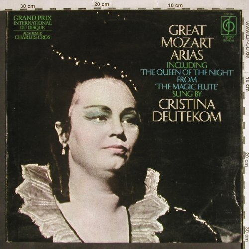 Deutekom,Cristina: Great Mozart Arias, VG+/vg+, Classic for Pleasure(CFP 164), UK, 1969 - LP - L3808 - 3,00 Euro