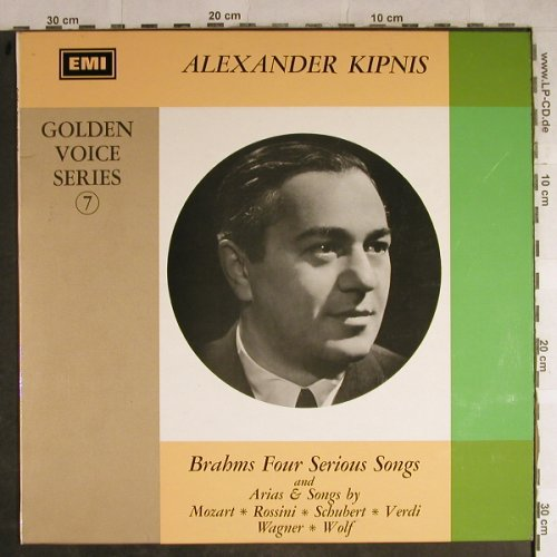 Kipnis,Alexander: Golden Voice Series 7, EMI(HQM 1101), UK, 1967 - LP - L3922 - 6,00 Euro