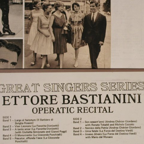 Bastianini,Ettore: Operatic Recital, m-/vg+, London(SR-33190), US, 1972 - LP - L4109 - 5,00 Euro