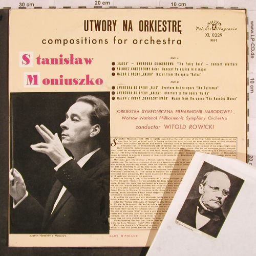 Muniuszko,Stanislaw: Compositions for Orchestra, Muza(XL 0229), PL, stoc,  - LP - L4287 - 5,00 Euro