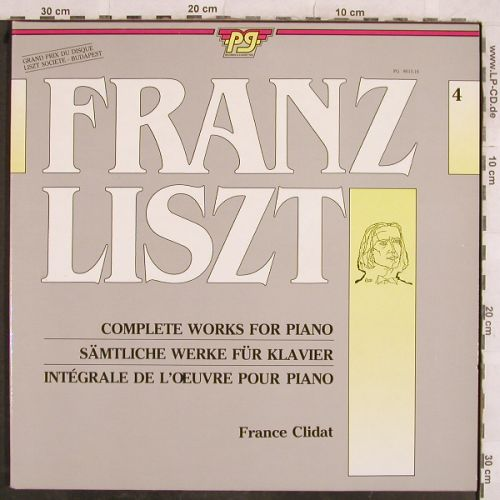 Liszt,Franz: Complete Works for Piano  4,Foc, P.G.(PG 8015-16), NL, 1985 - 2LP - L4328 - 6,00 Euro