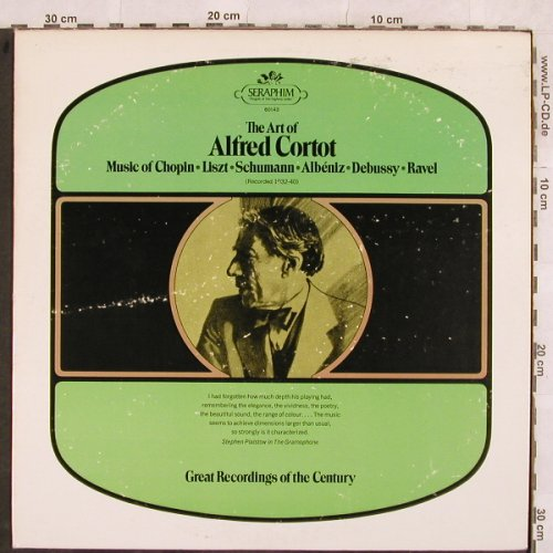 Cortot,Alfred: The Art of-Chopin,Liszt,Schumann..., Seraphim(60143), US, m-/vg+,  - LP - L4489 - 4,00 Euro