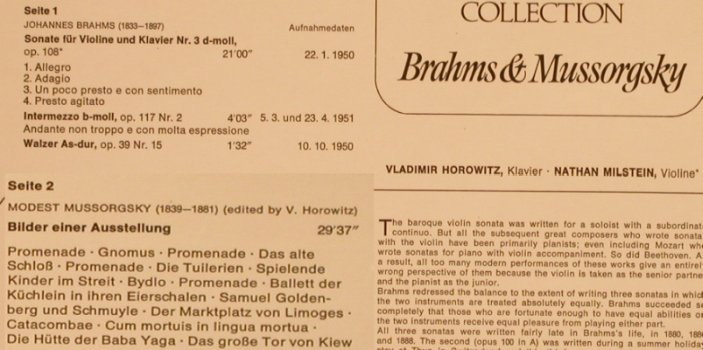 Horowitz,Vladimir: Collection Vol.17-Brahms/Mussorgsky, RCA Victrola VH 017(26.41339 AF), D, 1975 - LP - L4512 - 6,00 Euro