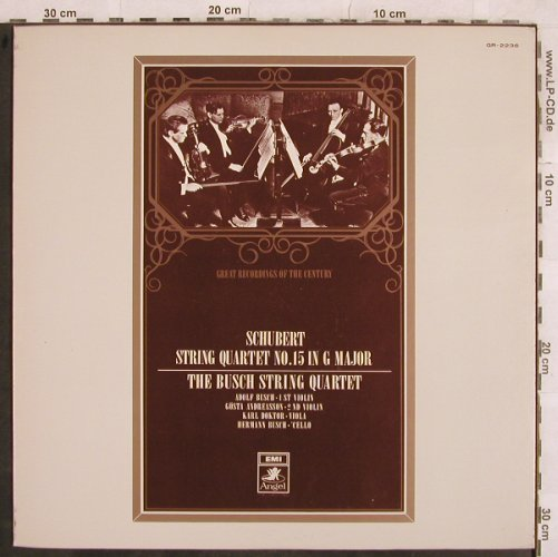 Schubert,Franz: String Quartet No.15 in G Major,161, Angel(GR-2236), J,  - LP - L4623 - 15,00 Euro