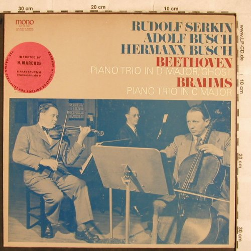 Beethoven,Ludwig van/ Brahms: Piano Trio in D Major,Ghost, Odyssey/CBS-InportStoc(32 16 0361), US,  - LP - L4696 - 25,00 Euro