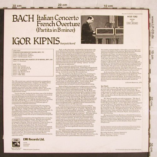 Bach,Johann Sebastian: Italian Concerto/French Overture, His Masters Voice(HQS 1392), UK, m-/vg+, 1976 - LP - L4741 - 5,50 Euro