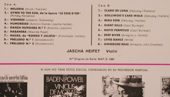 Heifetz,Jascha: Interpreta, Melodia,Hymn to the sun, MCA,plays well(S-14.225), E,vg+/m-, 1972 - LP - L4768 - 7,50 Euro