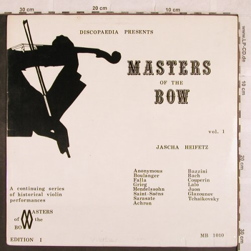 Heifetz,Jascha: Master of the Bow, Vol.1,  FS-New, Discopaedia(MB 1010), CDN,  - LP - L4775 - 14,00 Euro
