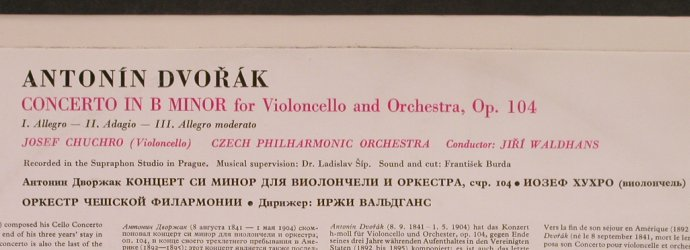 Dvorak,Antonin: Concerto for Violoncello and Orch., Supraphon(50 667), CZ. m-/vg+,  - LP - L4862 - 5,00 Euro