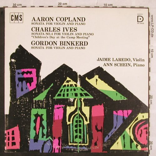Copland,Aaron/C.Ives/Gordon Binkerd: Sonata for violin and piano, CMS Desto Rec.(DC 6439), US, 1975 - LP - L5018 - 12,50 Euro