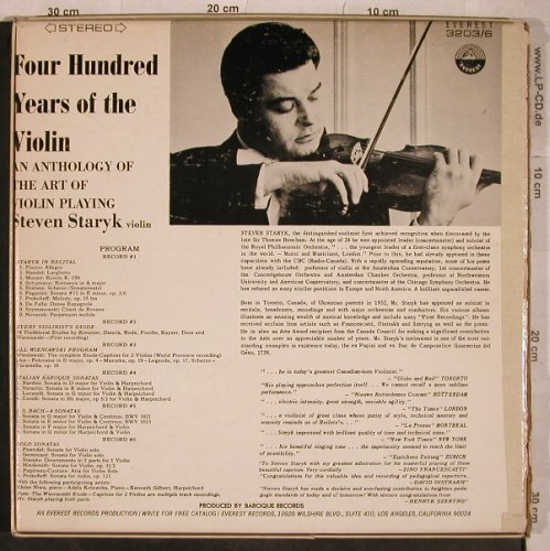 Staryk,Steven: Four Hundred Years of the violin, Everest Records(3203/6), US,VG+/VG+,  - 6LP - L5085 - 15,00 Euro