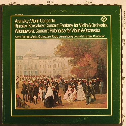 Arensky,Anton St./Rimsky-K./Wieniaw: Violin Concerto,op54, Turnabout Vox(QTV-S 34629), UK, 1976 - LP - L5126 - 9,00 Euro