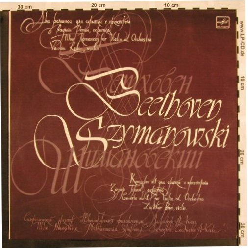 Beethoven,Ludwig van/Szymanowsky: Two Romances for Violin and Orch., Melodia(C10 24143 000), D, 1985 - LP - L5139 - 15,00 Euro