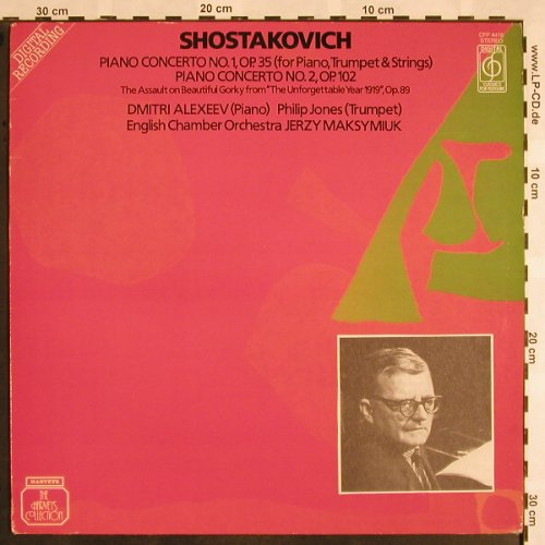 Schostakowitsch,Dmitri: Piano Concerto No.1 & 2, op.35, 102, Classics for Pleasure(41 4416 1), UK, stoc, 1981 - LP - L5286 - 6,00 Euro