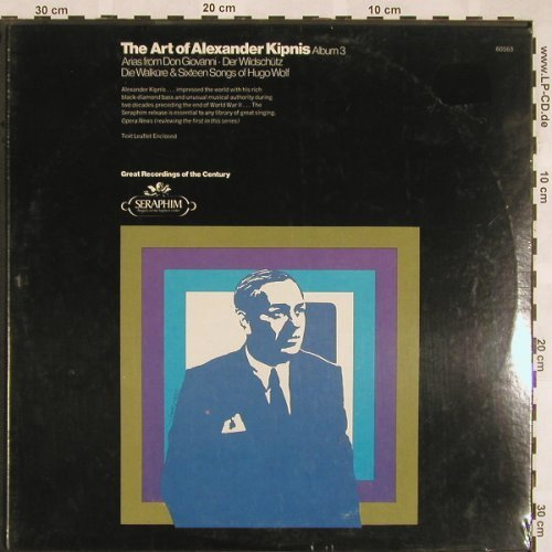 Kipnis,Alexander: The Art Of Album 3, FS-New, Seraphim(60163), US,  - LP - L5372 - 7,50 Euro