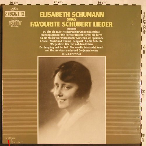 Schumann,Elisabeth: Sings Favorite Schubert Lieder,Foc, Seraphim,1927-49,co(IB-6149), US,FS-New, 1986 - 2LP - L5382 - 12,50 Euro