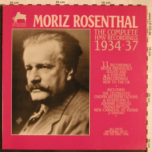 Rosenthal,Moriz: The Complete HMV Rec. 1934-37, Archive-Piano Rec.(APR 7002), UK, Foc, 1987 - LP - L5426 - 9,00 Euro