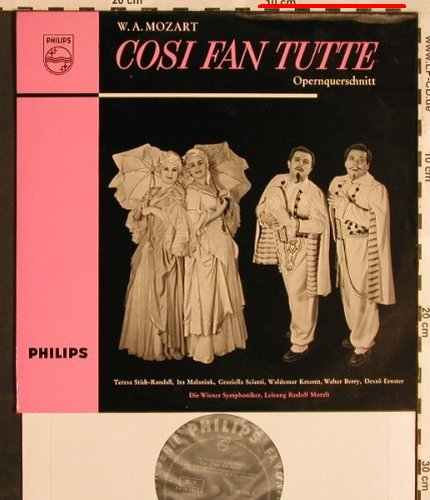 Mozart,Wolfgang Amadeus: Cosi Fan Tutte-Opernquerschnitt, Philips(in ital.)(S 06 196 R), D,m-/vg+, 1958 - 10inch - L5677 - 7,50 Euro