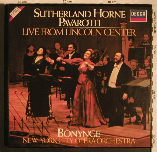 Sutherland / Horne / Pavarotti: Live From Lincoln Center,Box, Decca(6.35501 FA), D, 1981 - 2LP - L5739 - 7,50 Euro