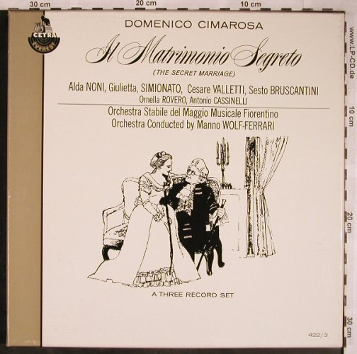 Cimarosa,Domenico: IL Martiimonio Segreto, Box, Cetra Everest Records(422/3), US,  - 3LP - L5830 - 9,00 Euro