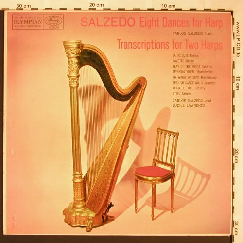 Salzedo,Carlos: Eight dances for harp, Columbia(MG 50093), US,  - LP - L5861 - 12,50 Euro