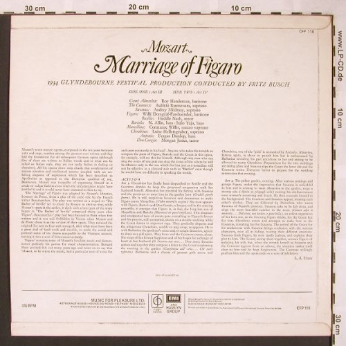 Mozart,Wolfgang Amadeus: Marriage of Figaro, Classics for Pleasure(CFP 117/118), UK,  - LP*2 - L6109 - 7,50 Euro