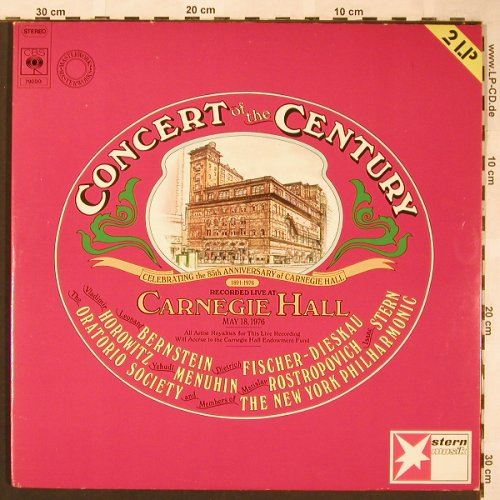 V.A.Concert of the Century: Rec.Live Carnegie Hall, 18 May 1976, CBS/Stern(79 200), D, 1976 - 2LP - L6138 - 7,50 Euro
