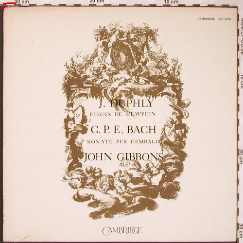 Duphly,Jacques / C.P.E.Bach: Pieces de Clavecin / Cembalo, Cambridge(CRS 2530), US, m-/vg+,  - LP - L6150 - 7,50 Euro